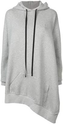 Unravel Project asymmetric hem oversized hoodie