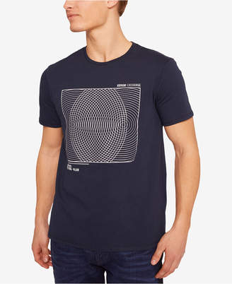 Armani Exchange Men Spiral Graphic T-Shirt