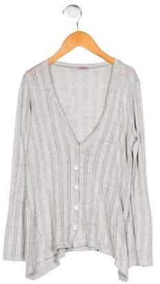 Splendid Girls' Knit Long Sleeve Cardigan