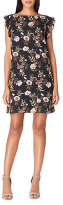 Tahari Ruffle Floral Shift Dress