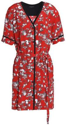Rag & Bone Zac Floral-Print Silk Crepe De Chine Mini Shirt Dress