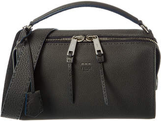 Fendi Lei Selleria Leather Boston Bag