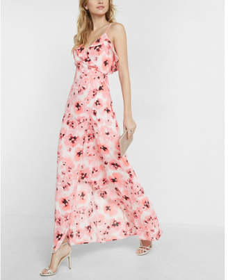 Express ruffle wrap front maxi dress $88 thestylecure.com
