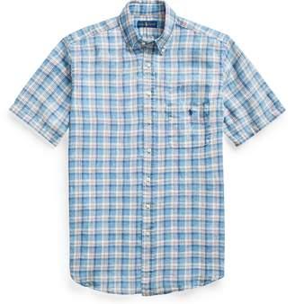 Ralph Lauren Classic Fit Plaid Linen Shirt