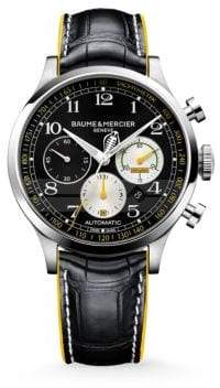 Baume & Mercier Baume& Mercier Women's Capeland Shelbyé Cobra 10282 Limited Edition Stainless Steel& Alligator Strap Watch - Black/Yellow