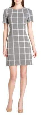 Tommy Hilfiger Plaid Knit Fit-&-Flare Dress