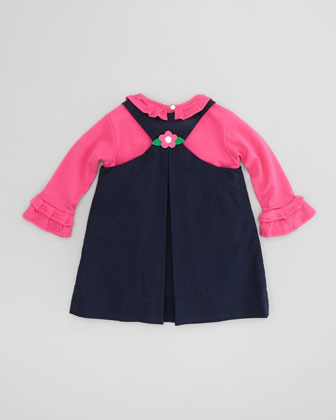 Florence Eiseman Long-Sleeve Ruffle Shirt, Pink, Sizes 2T-3T