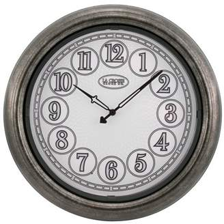 La Crosse Clock 403-3246 18 Inch Indoor/Outdoor Analog Lighted Dial Wall Clock in Antique Nickel finish