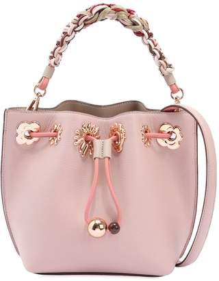 Sophia Webster Mini Romy Flower Leather Bucket Bag