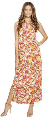 Christin Michaels - Bors Printed Maxi Dress Women's Dress $74 thestylecure.com