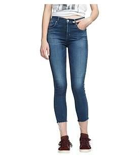 A Gold E Agolde Sophie Crop High Rise Skinny Jean