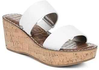 Sam Edelman Women's Rydell Cork Wedge Heel Sandals