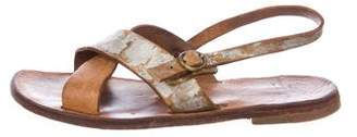 Officine Creative Leather Crossover Sandals