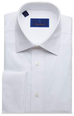 David Donahue Men's Regular-Fit Paisley Formal Shirt with French Cuffs