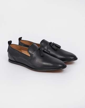 Hudson Comber Tassel Loafer Black