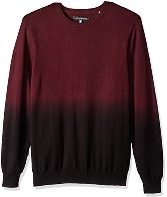 Vince Camuto Men's Dip-Dyed Crew Neck Sweater