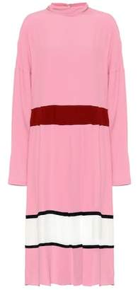 Marni Silk-blend crêpe midi dress