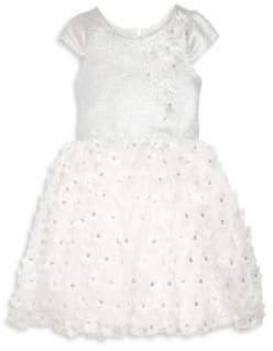 Zoe Toddler's, Little Girl's& Girl's Sequined Flower Dress