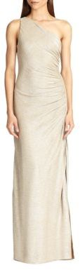 Laundry by Shelli Segal One-Shoulder Gown $295 thestylecure.com