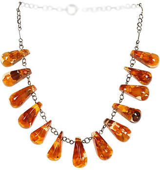 One Kings Lane Vintage Russian Amber Teardrop Bead Necklace - N.P.Trent Antiques