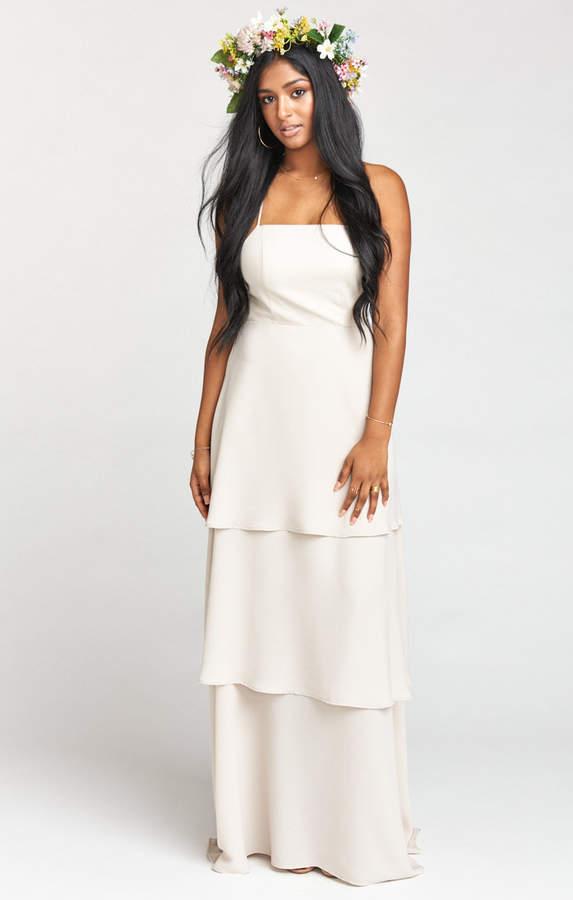 Show Me Your Mumu Calypso Ruffle Dress ~ Show Me The Ring Crisp