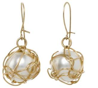 Anne Woodman Wrapped Pearl Earrings