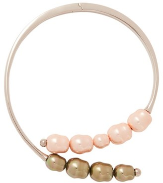Peter Pilotto X Panconesi Beaded Silver Tone Choker Necklace - Womens - Pink
