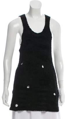 Alexander Wang Distressed Knit Top Black Distressed Knit Top