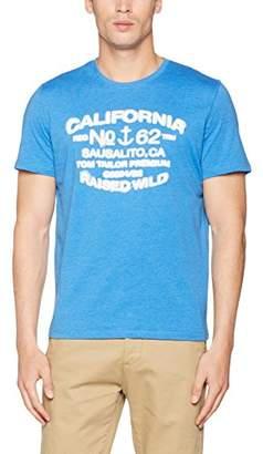 Tom Tailor Men's Print Package Tee T-Shirt, (Strong Blue 6962), Medium