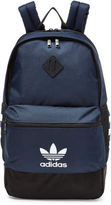 adidas Navy 3-Stripe Backpack