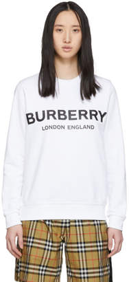 Burberry White Logo Sweatshirt