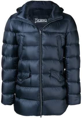 Herno padded hooded coat