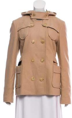 See by Chloe Wool-Blend Hooded Jacket