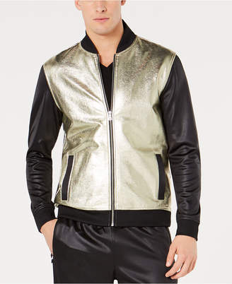 INC International Concepts I.n.c. Men's Metallic Sparkle Bomber Jacket