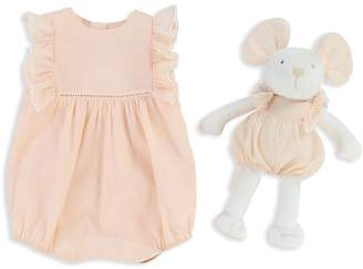 Chloé Girls' Ruffled Coverall & Mouse Set