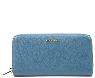 Coccinelle Metallic Soft Azul Leather Wallet