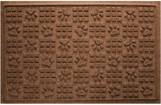 Bungalow Flooring Aqua Shield Dog Paw Squares Doormat Dark Brown