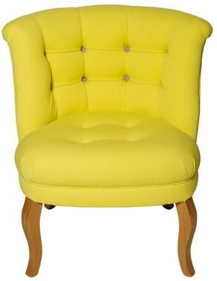 Oliver Bonas Contrast Button Cotton Tub Chair