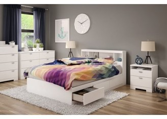South Shore Furniture South Shore Reevo Mates Bed With Bookcase Headboard, Multiple Sizes