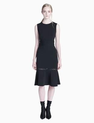 Calvin Klein ruffle hem sheath dress