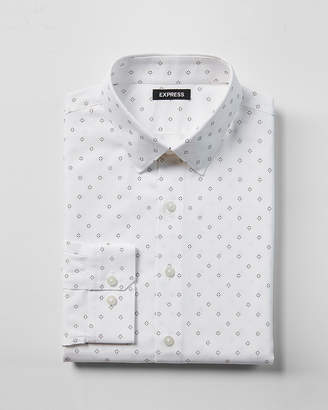 Express Extra Slim Diamond Print Dress Shirt