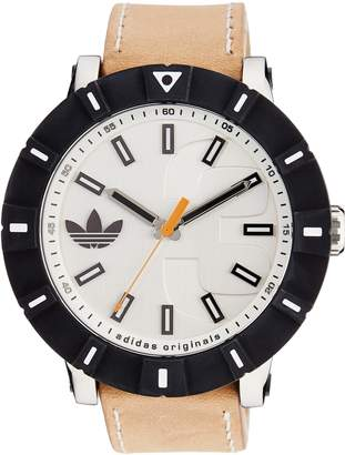 adidas Men's ADH2999 Amsterdam Stainless Steel Watch with Beige Leather Band