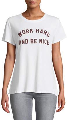 Sub Urban Riot Work Hard Short-Sleeve Slogan Tee