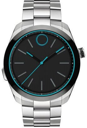 Movado 44mm Bold Motion Smart Watch, Silver $795 thestylecure.com