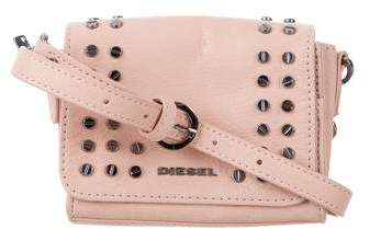Diesel Studded Leather Crossbody Bag