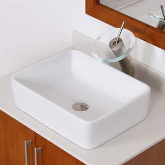 Elite Vinoy Rectangular Vessel Bathroom Sink