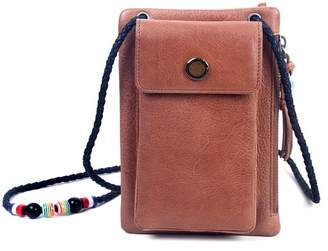 Old Trend Rillet Leather Crossbody Wallet