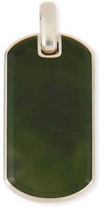 David Yurman Men's Exotic Stone Tag in Nephrite Jade, 35mm