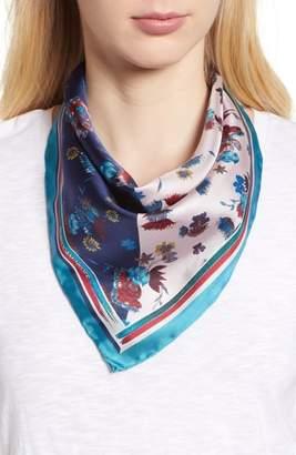 Rebecca Minkoff Pressed Floral Silk Bandana