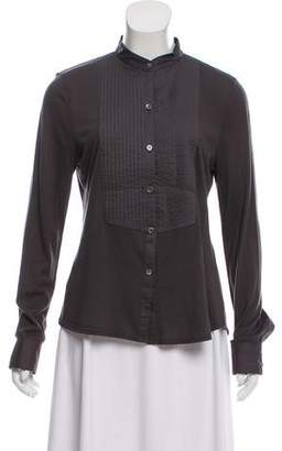 Theory Long Sleeve Button-Up Blouse